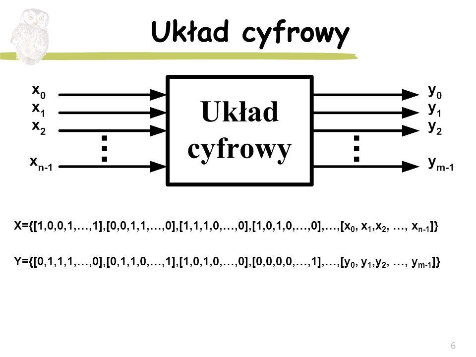Układ cyfrowy X={[1,0,0,1,…,1],[0,0,1,1,…,0],[1,1,1,0,…,0],[1,0,1,0,…,0],…,[x0, x1,x2, …, xn-1]}